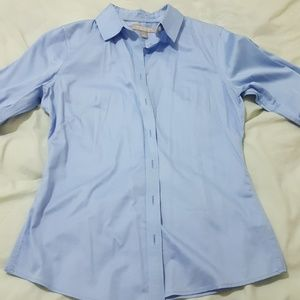 Non Iron Fitted Light Blue Banana Republic Shirt